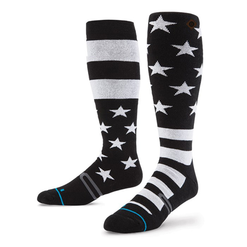 stance-stars-and-bars-snowboard-socks-black