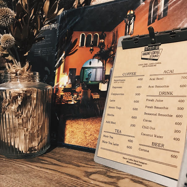 NEWS – Updated menu for HAUNT COFFEE STAND