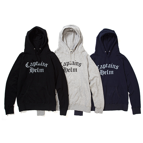 CAPTAINS HELM Delivery – #OLD ENGLISH LOGO HOODIE